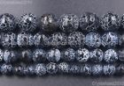 """Black Fire Crackle Agate Gemstones Faceted Round Beads 6mm 8mm 10mm 12mm 14.5"""""""