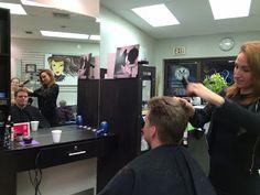 Tim gets a makeover at Salon Rosa M.