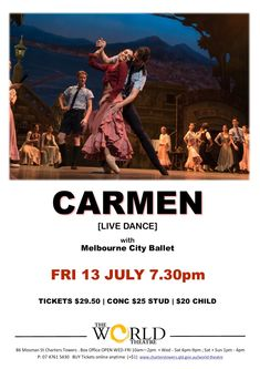 World Theatre Charters Towers World Theatre, Buy Tickets Online, City Ballet, Upcoming Events, Towers, Dance, Movie Posters, Dancing, Tours