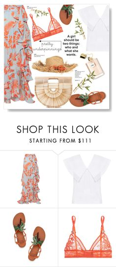 """""""Give Me Freedom"""" by viola279 on Polyvore featuring Johanna Ortiz, FLOW the Label, Tory Burch, STELLA McCARTNEY, Cult Gaia and prettyunderpinnings"""