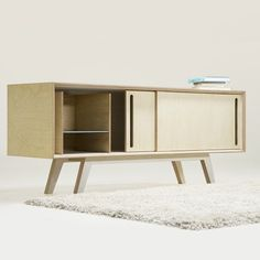 """leibal: """"Bb Sideboard is a minimalist design created by Germany-based designer Branka Blasius. Bb sideboard is inspired by works of artists Diether Roth and Donald Judd. It is made of birch plywood."""
