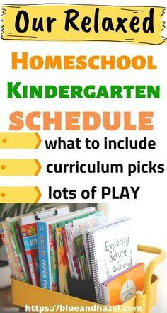 Our Relaxed Kindergarten Homeschool Schedule & Curriculum Choices
