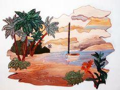 Beautiful Wood art, sail boat, beaches by GalleryatKingston for $50.00, #zibbet, @galleryatkingst