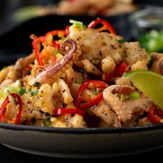 Learn How to prepare Chinese Food Appetiser Squid Recipes, Shellfish Recipes, Seafood Recipes, Appetizer Recipes, Appetizers, Kitchen Recipes, Cooking Recipes, Chinese Seafood Recipe, Chicken Spring Rolls