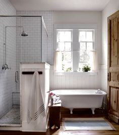 Gl and Shiplap Shower Enclosure | Decor | Pinterest | Shower ... Master Bathroom Designs And Lay E A on