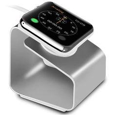 apple watch手表充电器底座 铝合金全金属支架 iwatch无线充电座-淘宝网