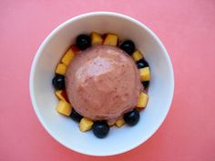 3-Minute Strawberry Nectarine & Avocado Ice Cream is so creamy and delicious!  Yum!! This easy recipe comes together in minutes.