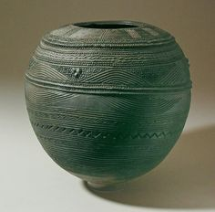 Nigerian pottery water jar