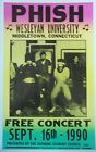 hish playing a free concert in Ct, at Wesleyan Poster