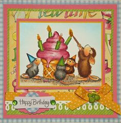 Jennie Black's................. Colorful Hugs: House Mouse - Birthday