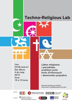 "Poster ""Techno-Religious Lab"". Blanquerna Observatory. 2015 #design #university #Blanquerna"