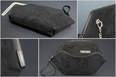 Vegan clutch borsa esagonale borsetta nera minimale