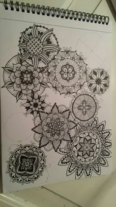 This is my therapy. Zentangles :)