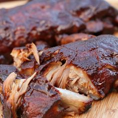Some of the best ribs hubby has ever tasted… and they came from the slow cooker!