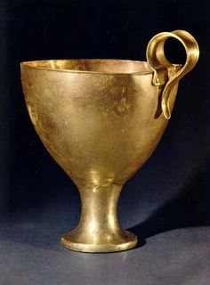 Gold cup from the Upper Grave Circle at Mycenae, 1500s B.C.