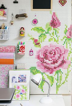 Turn a pegboard into art with this DIY.