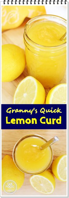 Granny's Quick Lemon Curd - tangy & delicious + video! @FabFood4All #lemoncurd #lemon #preserve