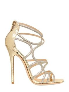 Jimmy Choo - 120mm Sling Glitter Ayers Cage Sandals