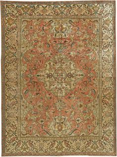 Persian Tabriz silk rug, 9'6'' × 7', circa 1920, Doris Leslie Blau gallery