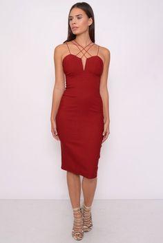 Vestido tirentes cruzados Rojo ( Rare London ) - 1001noches
