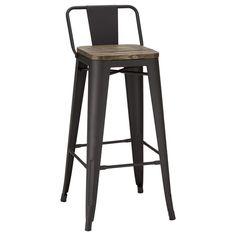 Rustic Wood and Metal Bar Stool/Bar & Counter Stools/Dining… Bar Metal, Metal Side Table, Wood And Metal, Rustic Bar Stools, Metal Bar Stools, Counter Stools, Bar Counter, Log Cabin Furniture, Rustic Wood Furniture
