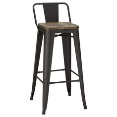 Rustic Wood and Metal Bar Stool/Bar & Counter Stools/Dining Room/Furniture|Bouclair.com