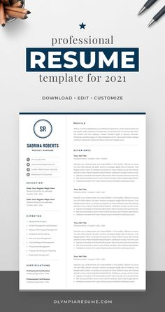 Professionally designed resume template that showcases your skills and experience in an elegant and effective way. The layout is optimized for building a resume that is informative, visually attractive and easy to navigate. The template package includes resume, cover letter and references templates in matching designs for creating a complete and consistent job application quickly and easily. Build your new resume now! #resume #resumetemplate #cv #cvtemplate #jobsearch #jobhunt #careeradvice One Page Resume Template, Modern Resume Template, Creative Resume Templates, Cover Letter For Resume, Cover Letter Template, Resume References, Build A Resume, Microsoft Word 2007, Thing 1