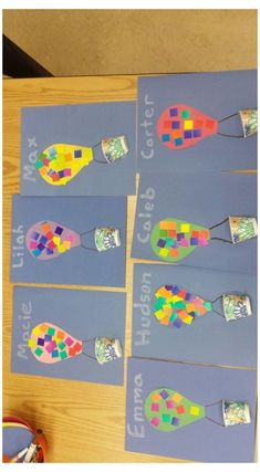 Balloon Crafts Preschool, Hot Air Balloon Craft For Kids, Ballon Crafts, Transportation Preschool Activities, Daycare Crafts, Classroom Crafts, Preschool Crafts, Hot Air Balloon Classroom Theme, Airplane Crafts