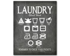 Excited to share the latest addition to my shop: Laundry Wall Art - Laundry Cheat Sheet - laundry subway art Wall decor - Machine Wash Hand Wash Hang Dry Iron - Chalkboard PRINT Laundry Room Wall Decor, Wall Art Decor, Wall Art Prints, Framed Prints, Laundry Symbols, Wedding Wall Decorations, Chalkboard Print, Subway Art, Hanging Dryer