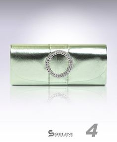 Crystal Round Faux Leather Clutch Evening Bag $17.99