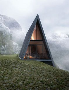 The Triangle House located on the edge of a cliff | sphere