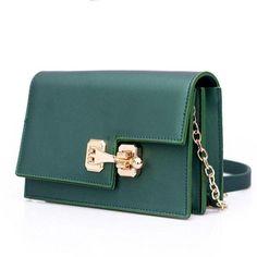 f2130254cb54 Women Baguette Sling wristlet Crossbody Messenger Faux-Leather Bag with  Lock Style Design