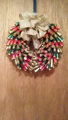 Christmas Shotgun Shell Wreath