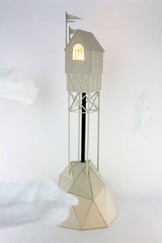 Tower with a captured light cardboard handmade by LifeInCardboard, $320.00