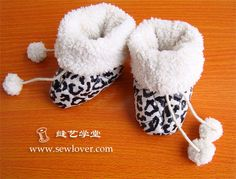 Small baby cotton boots free pattern