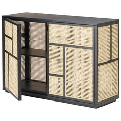 Design House Stockholm Air sideboard, black - cane by Mathieu Gustafsson