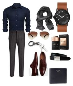 """Untitled #71"" by pentecostal-apostolicfashion2016 on Polyvore featuring Joseph, Belvedere, Banana Republic, Yves Saint Laurent, Ray-Ban, The British Belt Company, men's fashion and menswear"