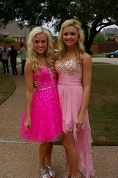 Brianna, I love both of these dresses! Super cute and sparkly!  I am getting pink sparkley dress<3