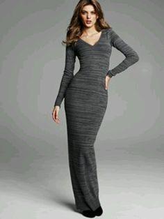 bd6046bd6fc V-neck Maxi Sweater Dress Victoriassecret.com Victoria Secret Dress