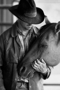 A cowboy and his horse. https://jolenenavarro.files.wordpress.com/2015/04/8440c3d591720b5c6277f7468f6c31e9.jpg