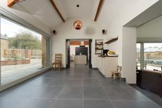 Minoli Tiles - Speculative Development / Stable Conversion, Oxfordshire - Floor Tiles: Evolution Evolve Iron 60 x 60 cm - https://www.minoli.co.uk/tiles/evolve-iron/