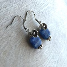Blue kyanite earrings by ArarekoJewelryWoman on Etsy