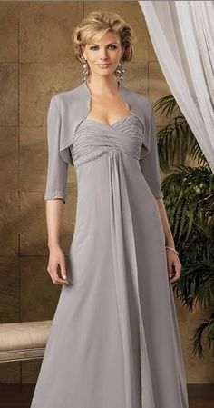 Empire waists with an A-line skirt is perfect for women with apple shapes. If you have a large bust, then consider having wide straps added to the gown so you can wear a supportive bra. Repin this!