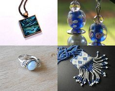 A Hint of Blue by LovelyKnotsBoutique on Etsy--Pinned with TreasuryPin.com