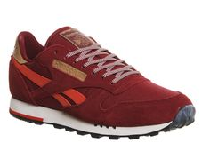 Reebok, Cl Leather, Burgundy Red Utility