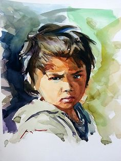 Painting a portrait in watercolor Watercolor Face, Watercolor Artwork, Watercolor Portraits, Portrait Background, Background Drawing, Watercolor Portrait Tutorial, Painting Corner, Watercolor Paintings For Beginners, Digital Painting Tutorials