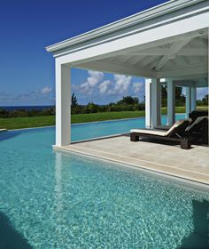 Enjoy the Ambiance of St. Sit back with a book & a cocktail. Dream Vacations, Vacation Spots, Patio, Backyard, Beautiful World, Beautiful Places, Destinations, Saint Martin, Pool Houses