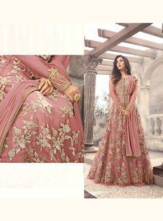 Sonal Chauhan Pink Net Floor Length Anarkali Suit 128088 Floor Length Anarkali, Anarkali Dress, Bridesmaid Dresses, Wedding Dresses, Kurtis, Evening Gowns, Suit, Formal, Pink