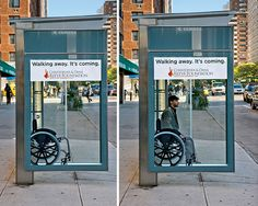 Wheelchair Bus Stop Advertisement for the Christopher  Dana Reeve Foundation. Curated by: Transition Marketing Services | Small Business Marketing  Branding Solutions http://www.transitionmarketing.ca