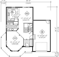 Victorian House Plan 49394 Level One